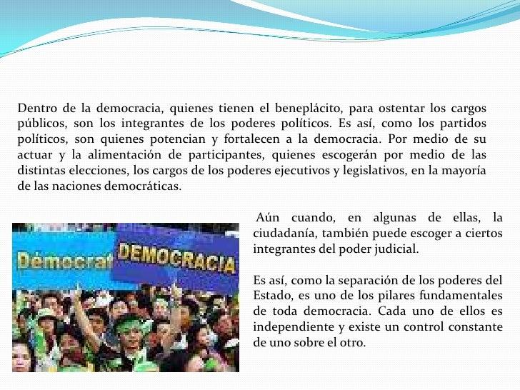 Hoy en día, la gran mayoría de los sistemas democráticos, funcionan por medio de la representación; podemos imaginar lo c...