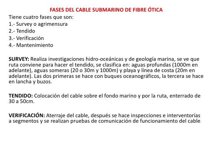 Fases del cable submarino Slide 2