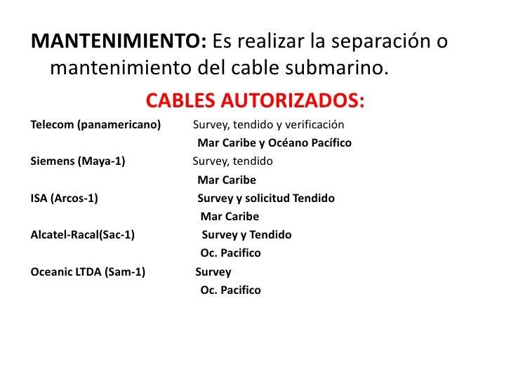 Fases del cable submarino Slide 3