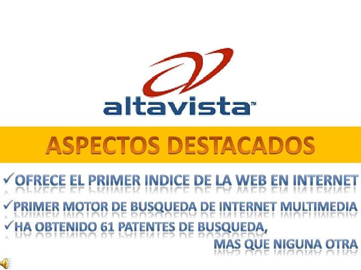 Yahoo Y Altavista
