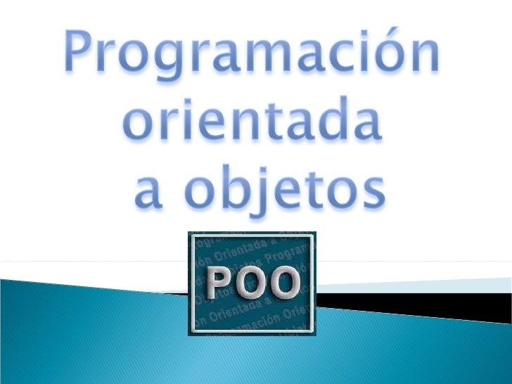 Programacion Orientada a Objetos y a Eventos