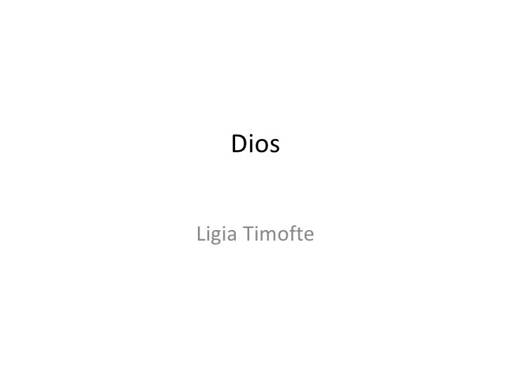 Dios<br />Ligia Timofte<br />