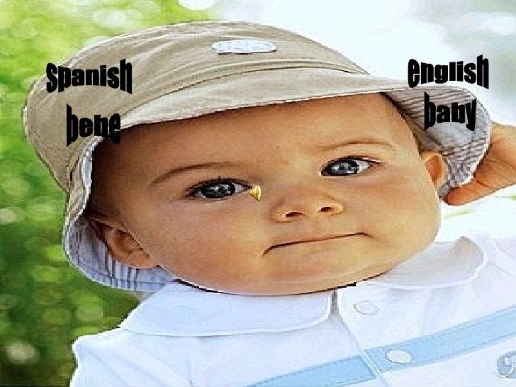 spanish english baby bebe