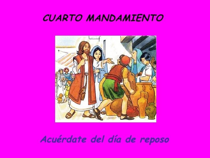 Los mandamientos for Cuarto mandamiento