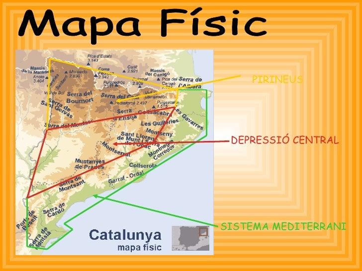 DEPRESSIÓ CENTRAL PIRINEUS Mapa Físic SISTEMA MEDITERRANI