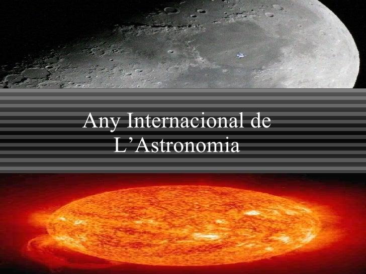 Any Internacional de L'Astronomia
