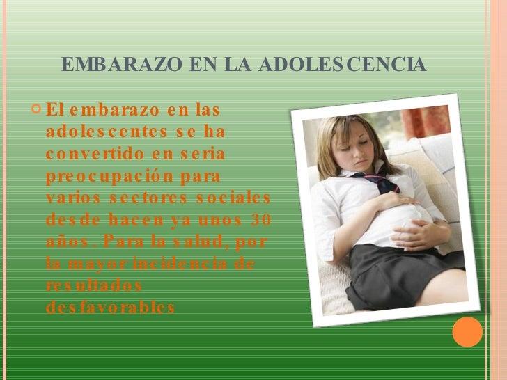 Embarazo en la adolescencia Slide 3