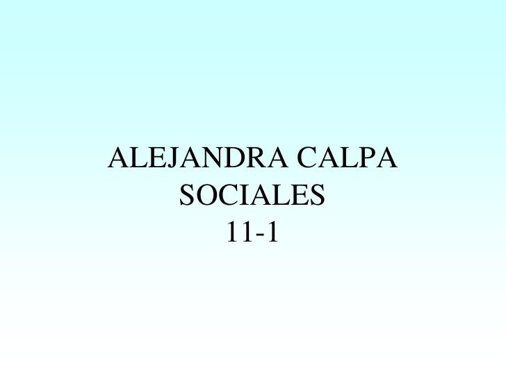 ALEJANDRA CALPA     SOCIALES       11-1