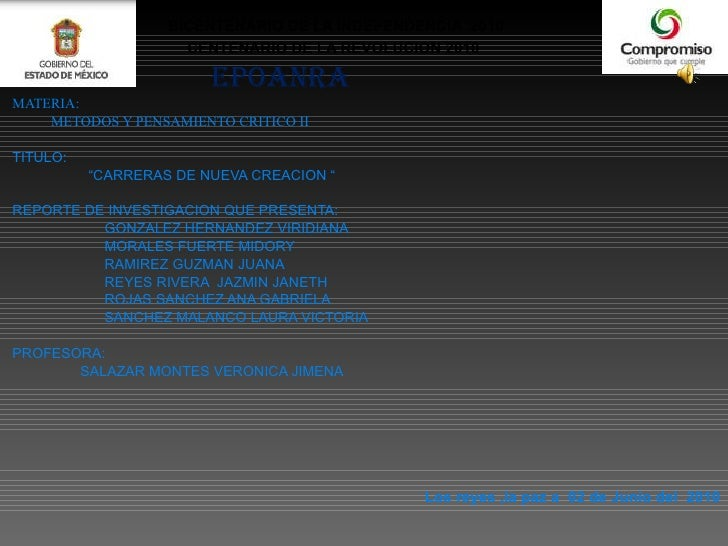 <ul><li>BICENTENARIO DE LA INDEPENDENCIA  2010 </li></ul><ul><li>CENTENARIO DE LA REVOLUCION 2010  </li></ul><ul><li>EPOAN...