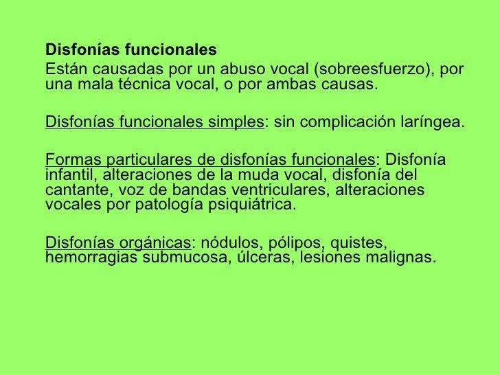 INTERVENCIÓN LOGOPÉDICA EN DISFONÍAS Slide 3