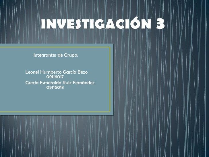 Presentación Investigación 3  Comercioe