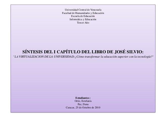 Universidad Central de Venezuela Facultad de Humanidades y Educación Escuela de Educación Informática y Educación Tercer A...