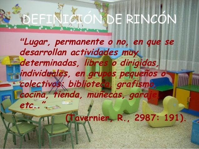 Los Rincones En Educacion Infantil