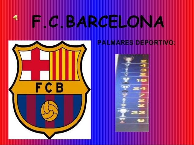 F.C.BARCELONA PALMARES DEPORTIVO:
