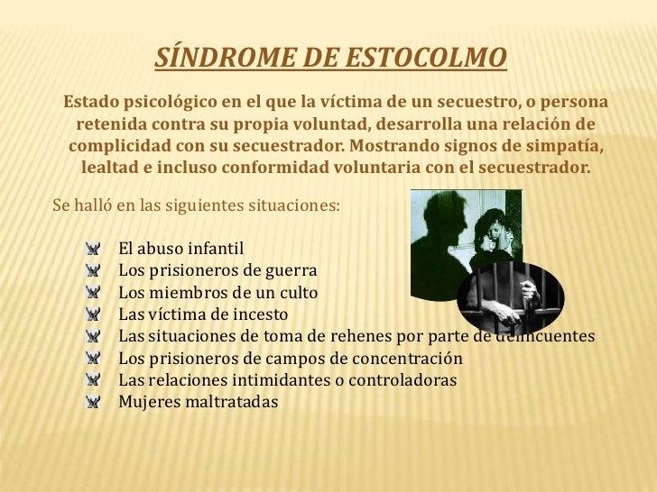 Resultado de imagen para SINDROME DE ESTOCOLMO