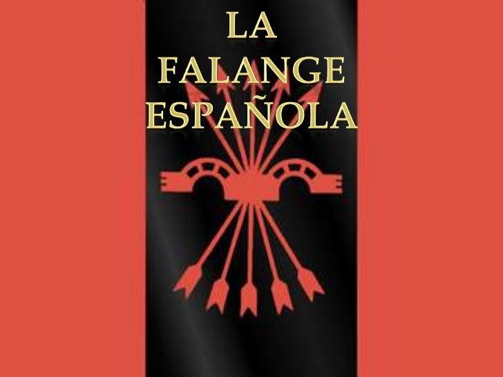 La<br />Falange española<br />
