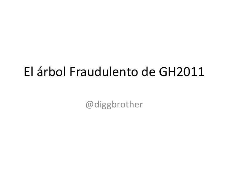 El árbol Fraudulento de GH2011 <br />@diggbrother<br />