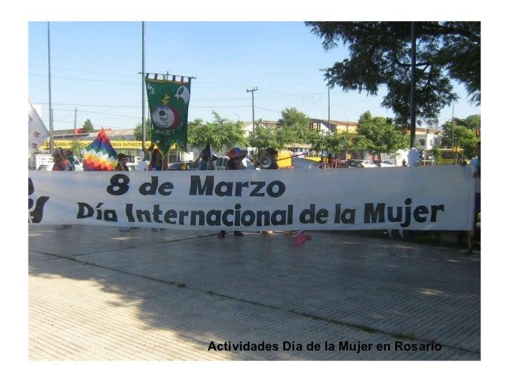 Actividades Día de la Mujer en Rosario