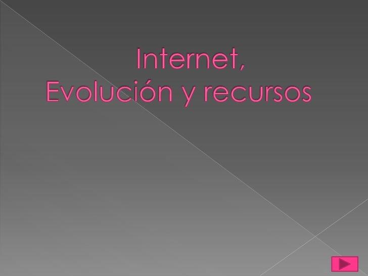 Internet, Evolución y recursos<br />