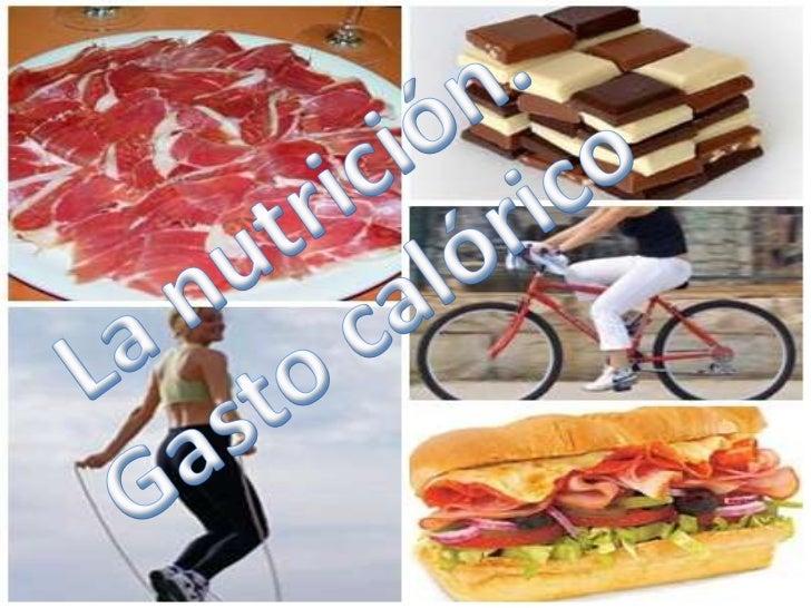 La nutrición. Gasto calórico<br />