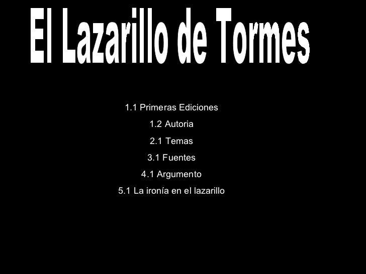 Frases De Ironia P 2: El Lazarillo De Tormes
