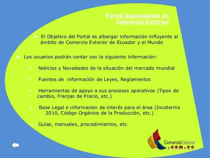 Red de portales de comercio exterior for De comercio exterior
