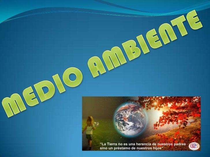 MEDIO AMBIENTE<br />