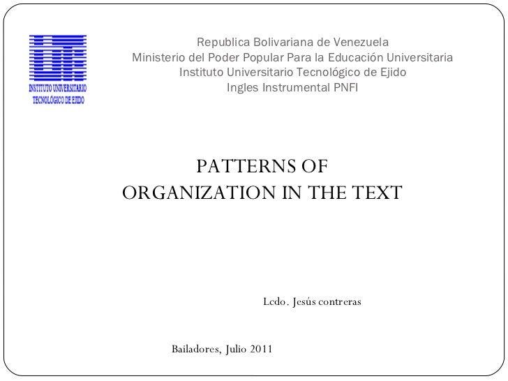Republica Bolivariana de Venezuela Ministerio del Poder Popular Para la Educación Universitaria Instituto Universitario Te...