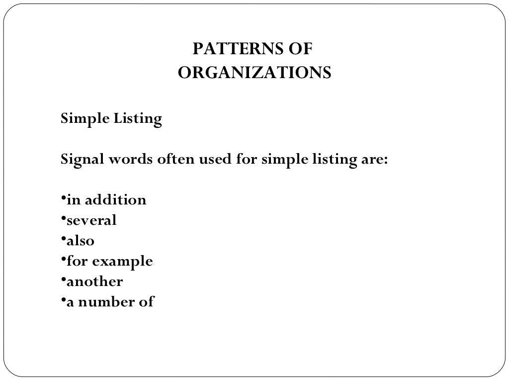 simple listing words – Simple Listing Words