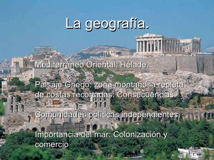 La grecia antigua el espacio y la historia for Cultura de la antigua grecia