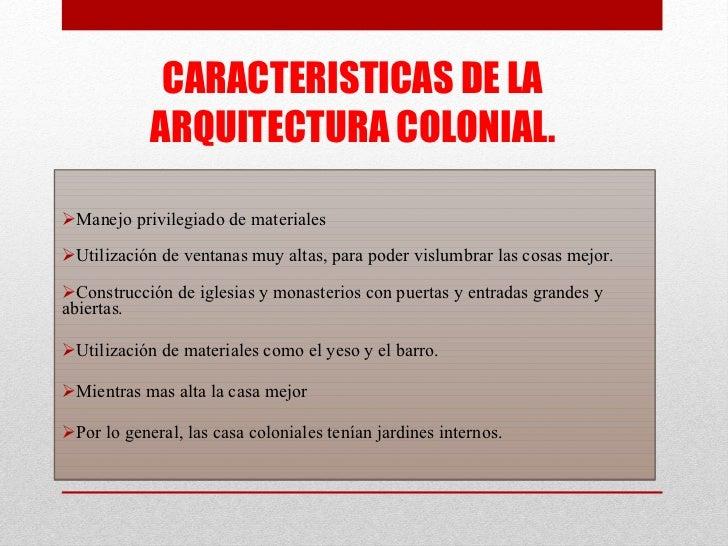 Presentaci n1 for Caracteristicas de la arquitectura