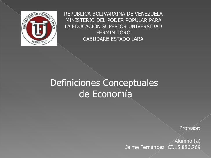 REPUBLICA BOLIVARAINA DE VENEZUELA   MINISTERIO DEL PODER POPULAR PARA   LA EDUCACION SUPERIOR UNIVERSIDAD              FE...