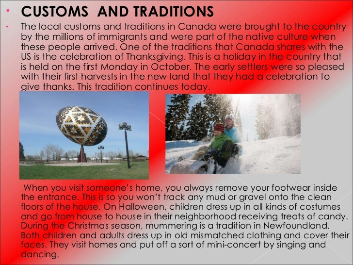 Canada - Canadian traditions
