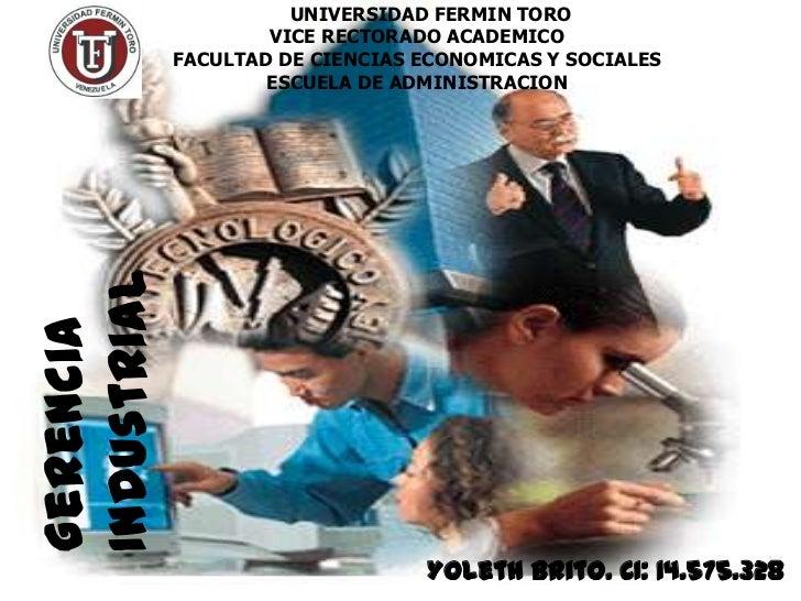 UNIVERSIDAD FERMIN TORO                     VICE RECTORADO ACADEMICO             FACULTAD DE CIENCIAS ECONOMICAS Y SOCIALE...