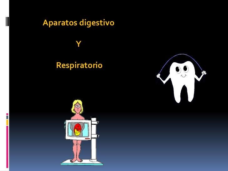 Aparatos digestivo        Y   Respiratorio