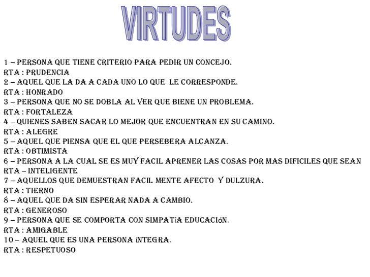 Mis Virtudes Y Mis Defectos