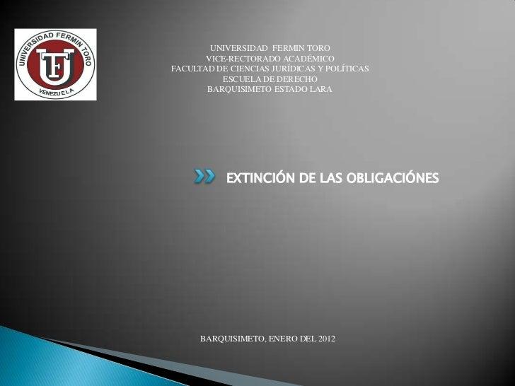 UNIVERSIDAD FERMIN TORO       VICE-RECTORADO ACADÉMICOFACULTAD DE CIENCIAS JURÍDICAS Y POLÍTICAS          ESCUELA DE DEREC...