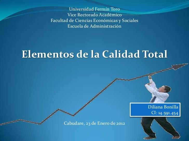 Universidad Fermín Toro             Vice Rectorado Académico     Facultad de Ciencias Económicas y Sociales             Es...