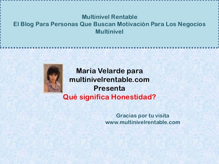Multinivel RentableEl Blog Para Personas Que Buscan Motivación Para Los Negocios                           Multinivel     ...
