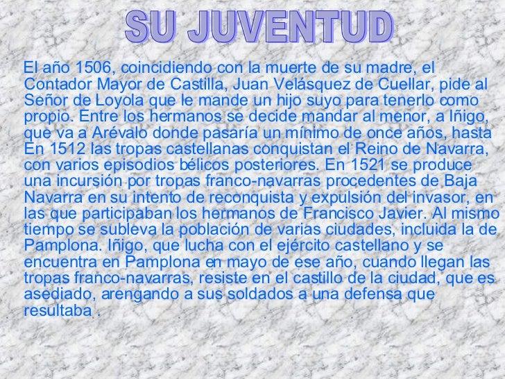 <ul><li>El año 1506, coincidiendo con la muerte de su madre, el Contador Mayor de Castilla, Juan Velásquez de Cuellar, pid...