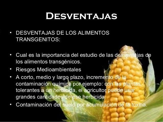 Ventajas y desventajas de alimentos transg nicos for Quimica de los alimentos pdf