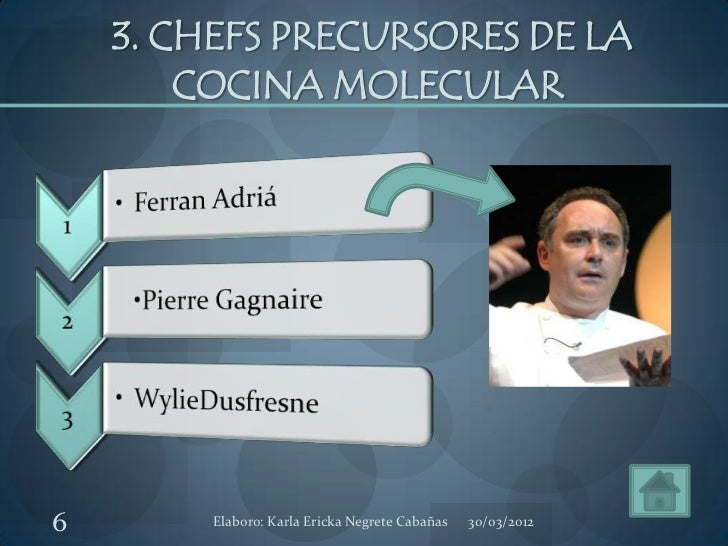 Cocina molecular for Padre de la cocina molecular