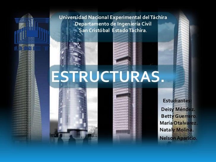 Universidad Nacional Experimental del Táchira      Departamento de Ingeniería Civil        San Cristóbal Estado Táchira.ES...