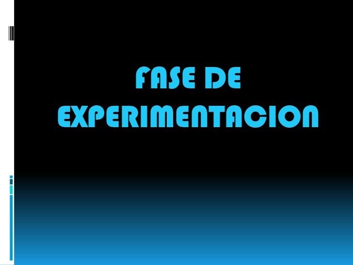 FASE DEEXPERIMENTACION