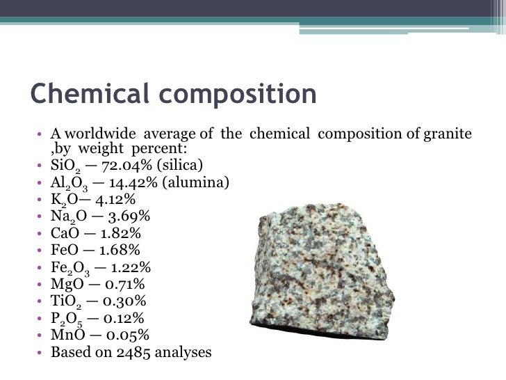 Chemical Properties Of Granite