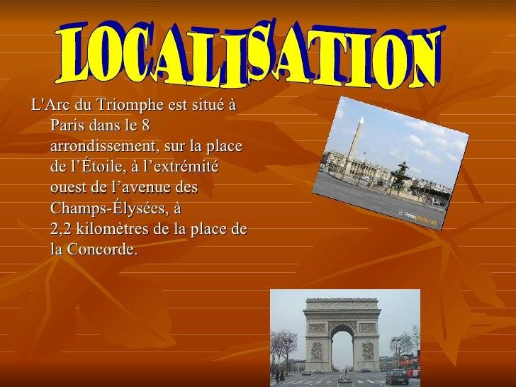 La Place de lÉtoile forme une  énorme rotonde de douze  avenues qui forment une  étoile quils débouchent à  lArc du Triomp...