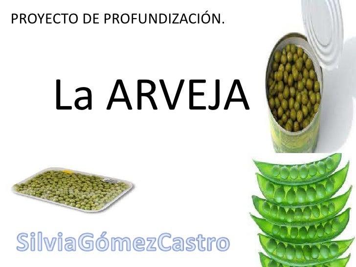 PROYECTO DE PROFUNDIZACIÓN.     La ARVEJA