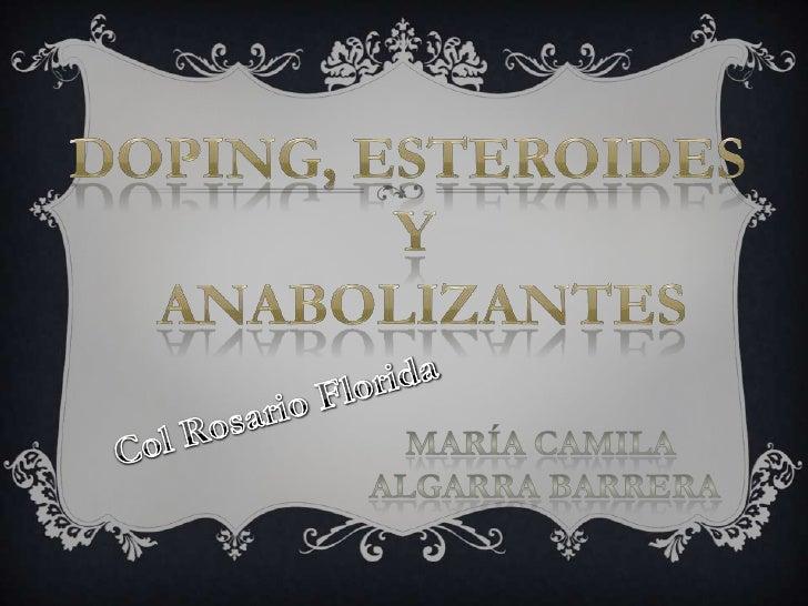 De acuerdo al Comité OlímpicoInternacional (COI), doping es laadministración o uso por parte deun atleta de cualquier sust...