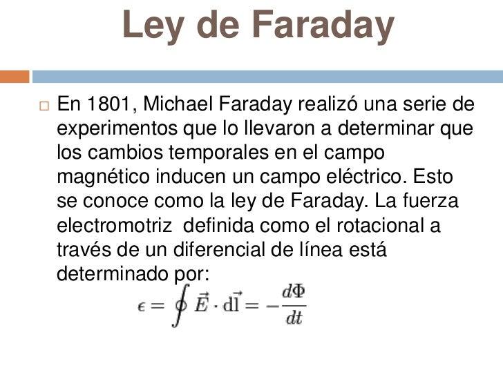 Resultado de imagen de El campo eléctrico de Faraday