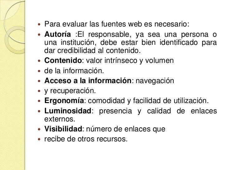 Evaluacion Fuentes De Informacion